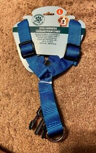 Greenbrier Kennel Club Adjustable Nylon Dog Harness Blue with Large New