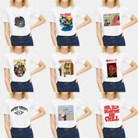 Casual Harajuku Devil Graphic Women Tops Loose Waist Classic Short Sleeve Tee