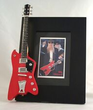 BILLY GIBBONS Miniature Guitar Frame Jupiter ZZ TOP