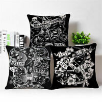 Cartoon Print Cotton Linen Pillow Case Sofa Throw Cushion Cover Home Decor