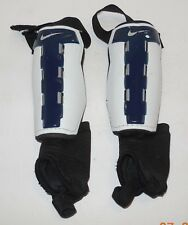 "Nike Youth Soccer Shin Guards Size Large 4'7""-4'11"" Blue White"