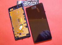 DISPLAY+TOUCH SCREEN +FRAME COVER per SONY XPERIA Z1 MINI COMPACT D5503 NERO
