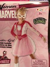 PINK SPIDER-GIRL Glows HALLOWEEN COSTUME Girl Medium (8-10)