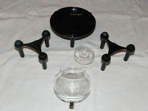 Schale 70s BMF NAGEL QUIST Kerzenhalter Kerzenleuchter Stecksystem Design selten