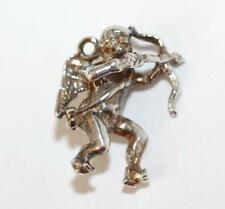 New listing Vintage 3d Cupid With Arrow Sterling Silver Bracelet Charm Older With Patina