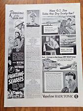 1944 Movie Ad The Fighting Seabees John Wayne Susan Hayward