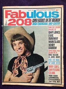 FABULOUS 208 magazine 25th May 1968 Pop Music Davy Jones Monkees Western TVshows