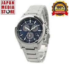 Citizen BL5530-57L Attesa Eco-Drive Metal Face Chrono Watch 100% Genuine JAPAN