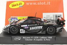 SLOT IT SICA10c BMW LOCTITE McLAREN LE MANS 98 NEW 1/32 SLOT CAR IN DISPLAY CASE