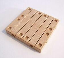 PLAYMOBIL (M408) VIKINGS - Plaque Plancher Marron Clair 9x9cm Tour 4433
