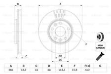 2x Bremsscheibe für Bremsanlage Vorderachse BOSCH 0 986 479 C62