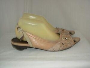COULEUR POURPRE Ballerines Sandales Cuir P.40