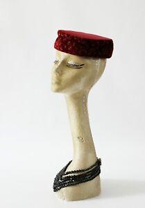 Vintage pillbox hat,burlesque,Ascot,weddings, races,church, 60s retro hat