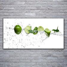 Tableau sur Plexiglas® Image Impression 120x60 Cuisine Citron Vert Lime Eau