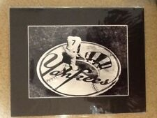 MICKEY MANTLE YANKEE LOGO 10 x 7 MATTED PHOTO WITH COA FREE SHIPPING