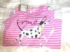 JOULES KIDS Top Pink Stripe Long Sleeve Ava Spotty Dog Size 9 - 12 Months - BNWT