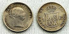 FALSA DE EPOCA ISABEL II 1 REAL 1855 SEVILLA SILVER/PLATA 1,4 g. RARA