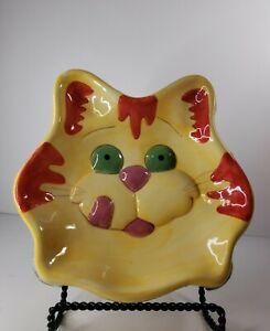 Vintage 2002 Meow Mix Ceramic Cat Pet Bowl Dish