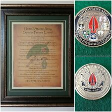 Mc-Best: Socom Coin and Personalized Special Forces Creed Framed