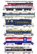 Bangor & Aroostook Locomotives set of 6 magnets Andy Fletcher
