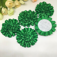 5pcs Green ribbon big Peony Flower Appliques/craft/Wedding decoration !