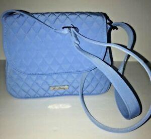 Vera Bradley Microfiber Medium Flap Crossbody Sky Blue Purse Bag  Tags