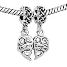 Silver Plated Mother Daughter Charms Sale Beads Fits Pandora Bracelet