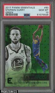 2017-18 Panini Essentials Green #60 Stephen Curry Warriors PSA 10 GEM MINT