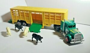 Kenworth 614 Cattle Livestock Majorette Super Movers Semi Truck Tractor Trailer