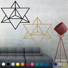 Sacred Geometry Decal Sticker Markaba Star Tetrahedron Wall Art Room House Decor