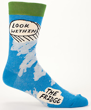 Look Within the Fridge Blue-Q Men's Crew Socks New Novelty Snack Fashion