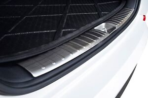 S/S Inner Cargo Trunk Lip Rear Bumper Garnish Cover for Hyundai Tucson TL 15-20