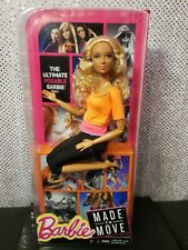 MADE TO MOVE BLONDE CURLY HAIR ARTICULATED BARBIE DOLL 2015 MATTEL DPP75 NRFB