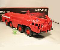 1:43 MAZ 7310 8x8 Feuerwehr FW fire engine Made in Russia USSR LKW UdSSR DDR