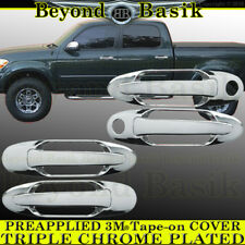 2004 2005 2006 Toyota Tundra 4DR Crew Chrome Door Handle Covers Overlays w/PSK
