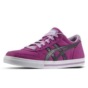 Chaussures Asics Aaron GS Violet Gris Shuhe Femme Fille mexico 66