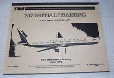 June 1996 TWA Boeing 757 Initial Training Maintenance Training Handbook Manaul