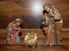 NEU Krippenfiguren Zirbel Krippe - Heilige Familie - 15cm Holz geschnitzt