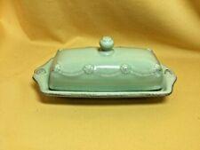 New listing Juliska Ceramics Berry and Thread Rustic Green 1/4 lb. Covered Butter Dish 63247