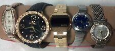 Women's wristwatches 5lot Figaro, Diesel, Bulova, Seiko, Gruen some work/repair