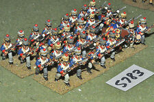 25mm napoleonic french guard foundry tirailleurs 31 figures (5783) metal painted