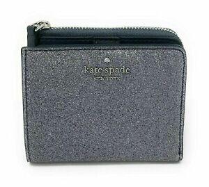 Kate Spade Glitter Small Wallet L-Zip Bifold Joeley Gift Box WLRU5840 $99