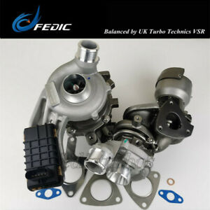Twin Turbocharger 778400 778401 for Land Rover Discovery IV Jaguar XF TDV6