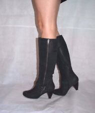 Women Black Knee High Boots Low Heel Real Leather Soft Quality Next Size 6