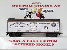 Ho Custom Lettered Duluth Missabe & Northern Boxcar Reefer Lot B
