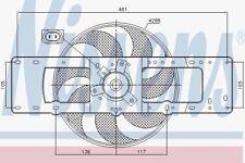 NISSENS 85499 RADIATORE ventilatore Renault Clio 90 -