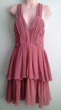 H&M Patternless V-Neck Dresses for Women