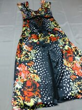 Heine Kleid Gr. 36 Mehrfarbig schwarz mit Blumen Neu