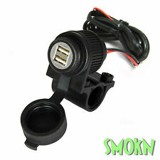 Bike-It Motorcycle Motorbike Scooter 12v Dual USB Power Socket GPS Phone Charger