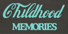 Scrapbooking Words - Childhood Memories